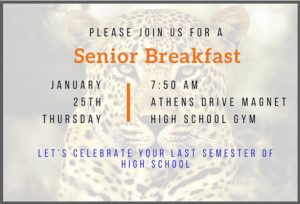 The Senior Breakfast is Almost Here